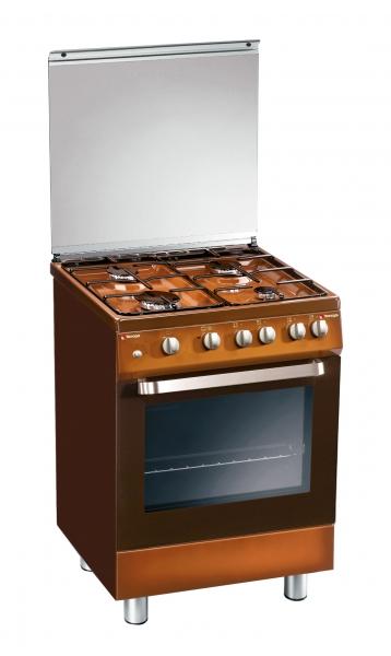 Fogão Tecnogas D 62 NCS 60cm Castanho forno a gás