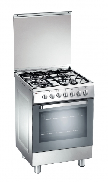 Fogão Tecnogas D 62 NXS forno a gás inox 60 cms
