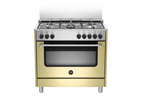 Fogão semi profissional 90 cms creme forno elétrico