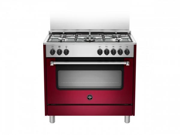 Fogão semi profissional 90 cms Vermelho forno elétrico