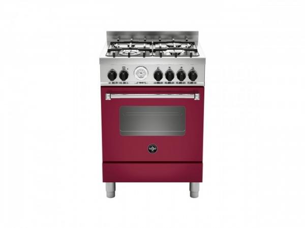 Fogão profissional 60cms forno a Gás Vermelho
