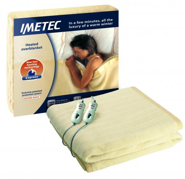 Cobertor elétrico IMETEC , ElectroBlock, Casal, utilizadores independentes
